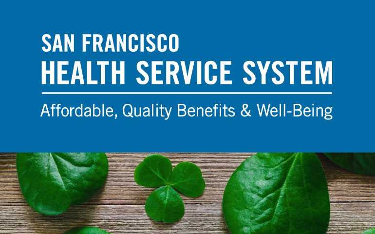 March 2019 eNews Banner features sfhss logo and image of 4-leaf clovers for St. Patrick's Day