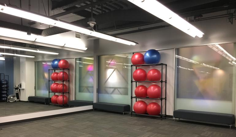 Wellness Center group exercise room