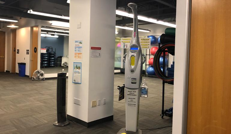 BMI machine in the Wellness center